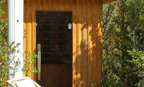 Sauna et douche solaire