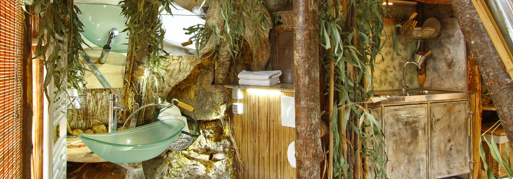 Salle de bain cabane rocamadour